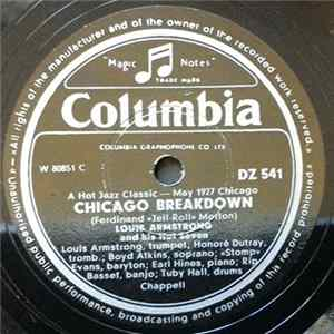Louis Armstrong & His Hot Seven / Louis Armstrong & His Hot Five - Chicago Breakdown / Don't Jive Me Album